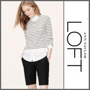 """LOFT   Julie Walking Shorts   10"""" inseam  Like New"""